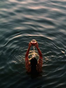 Cleansing water ritual